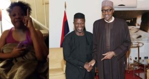 Lady attacks Buhari