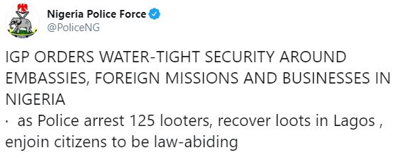 125 looters arrested