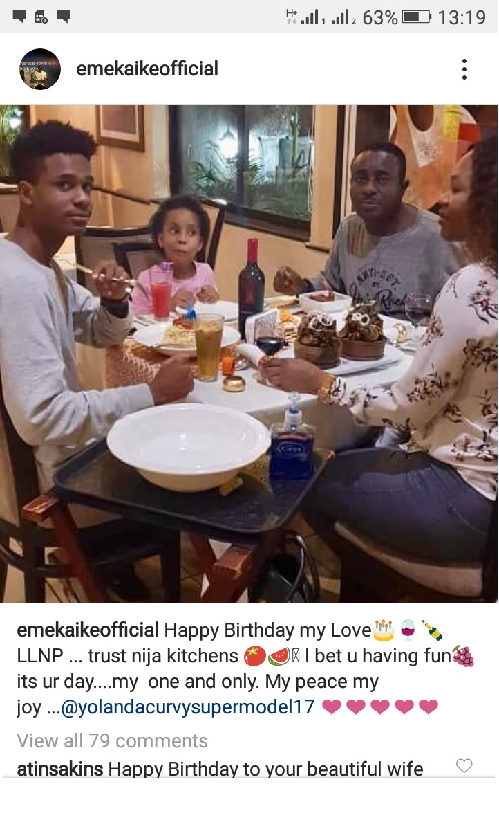 Nollywood Actor, Emeka Ike is reportedly expecting a child ...