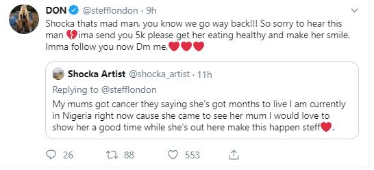Stefflon Don helps Nigerian man