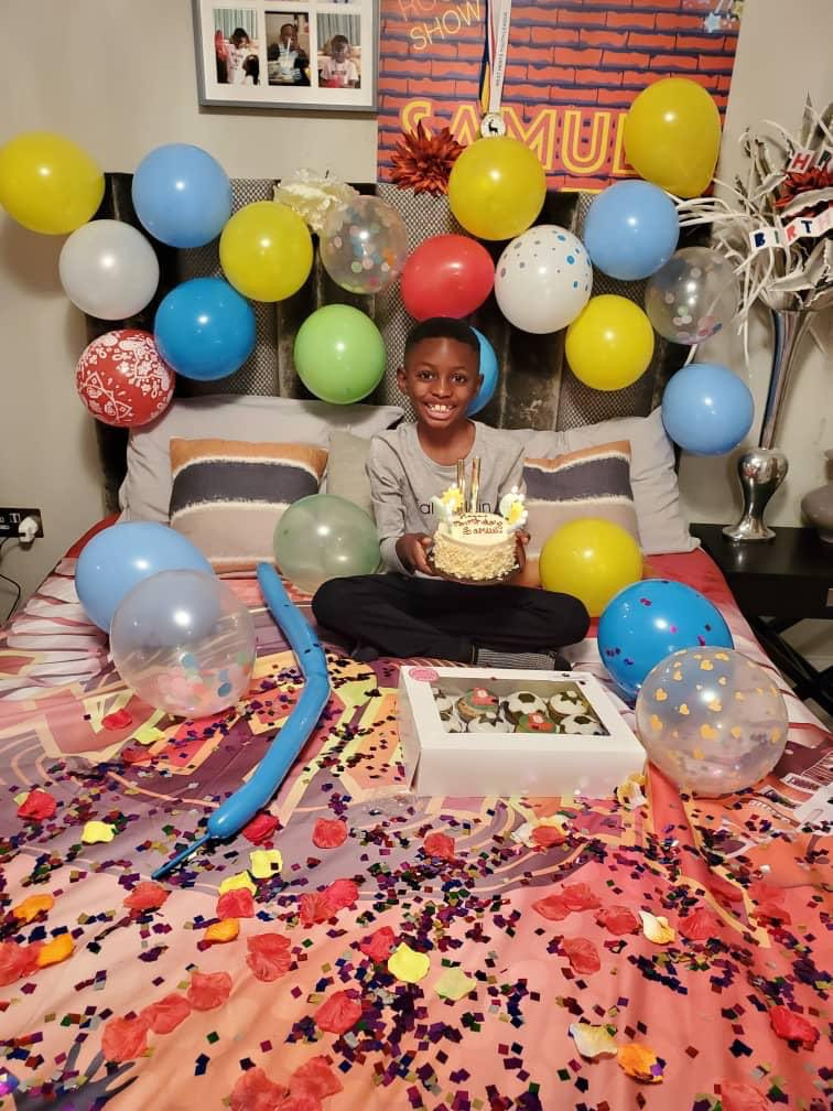 Odion Ighalo celebrates son