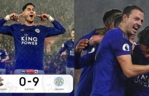 Leicester city humiliate Southampton