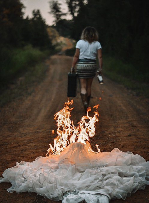 Lady burns