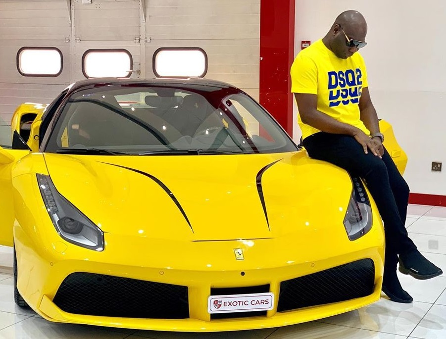 Mompha flaunts his brand-new Ferrari 488 Spider, hardly 24 hrs after acquiring the most recent Rolls Royce Wraith Eagle viii 2020 (Photos)