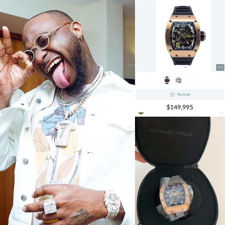 Davido buys Richard Mille watch