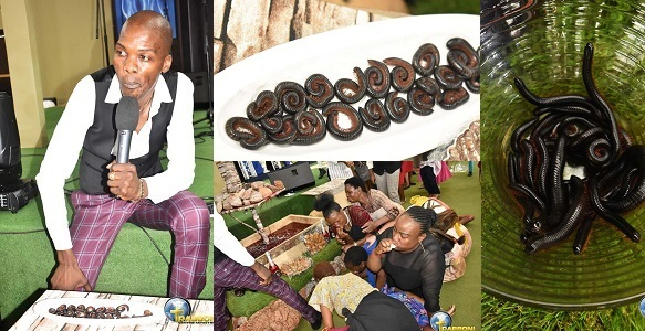 Pastor feeds church members millipede and beer (photos) - YabaLeftOnline