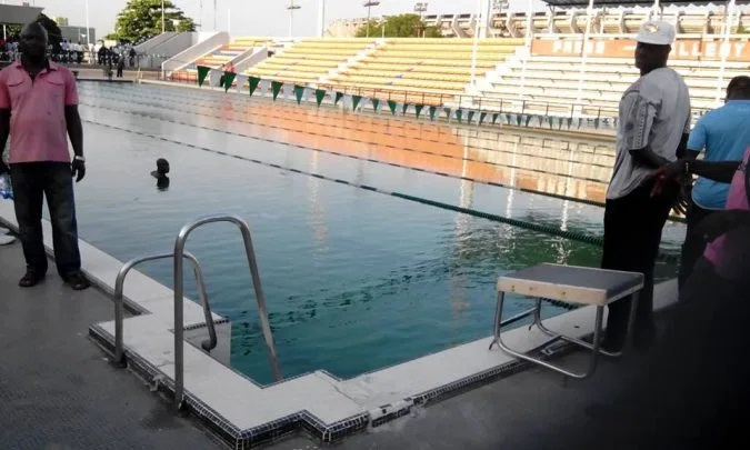 Image result for swimming pool national stadium lagos