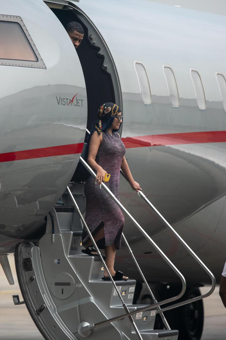 Cardi B Arrives Lagos