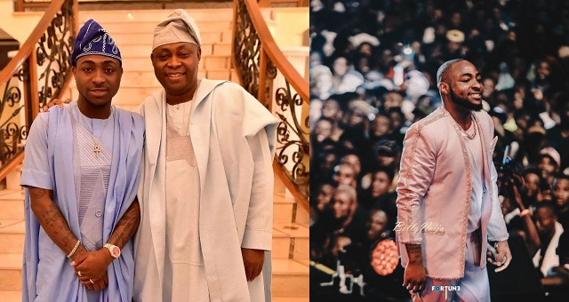 Image result for images of Davido's Father Praises Him After His Concert
