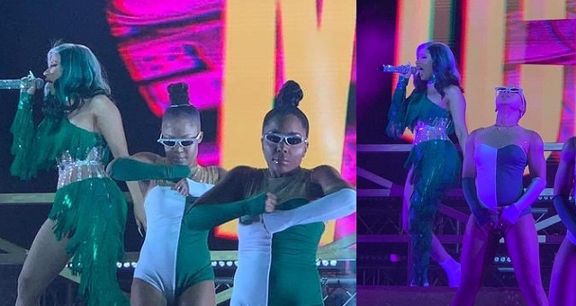 Cardi B rocked Nigeria's Green and White colors during her performance yesterday. (Video) - YabaLeftOnline
