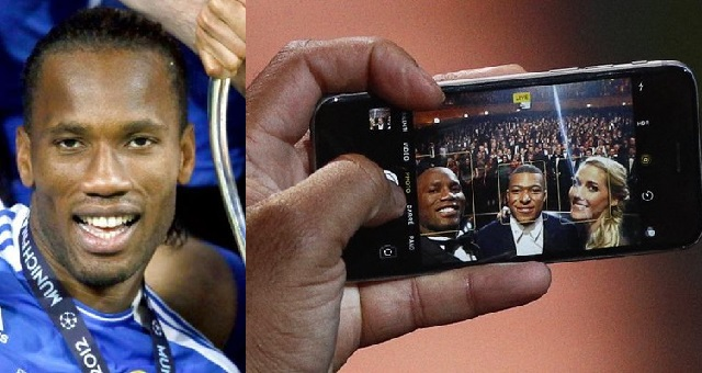 Social media users react after ex-chelsea footballer, Didier Drogba was pictured using an 'Iphone 6' - YabaLeftOnline
