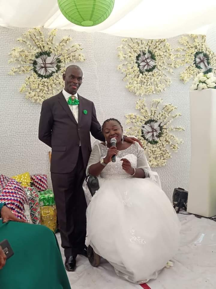 Lady In Wheelchair Weds In Abuja