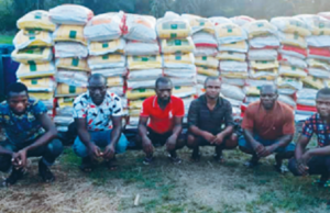 Six rice smugglers arrested