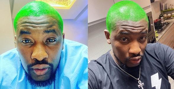 """I am my hair"" – OAP Dotun says as he unveils green hair"