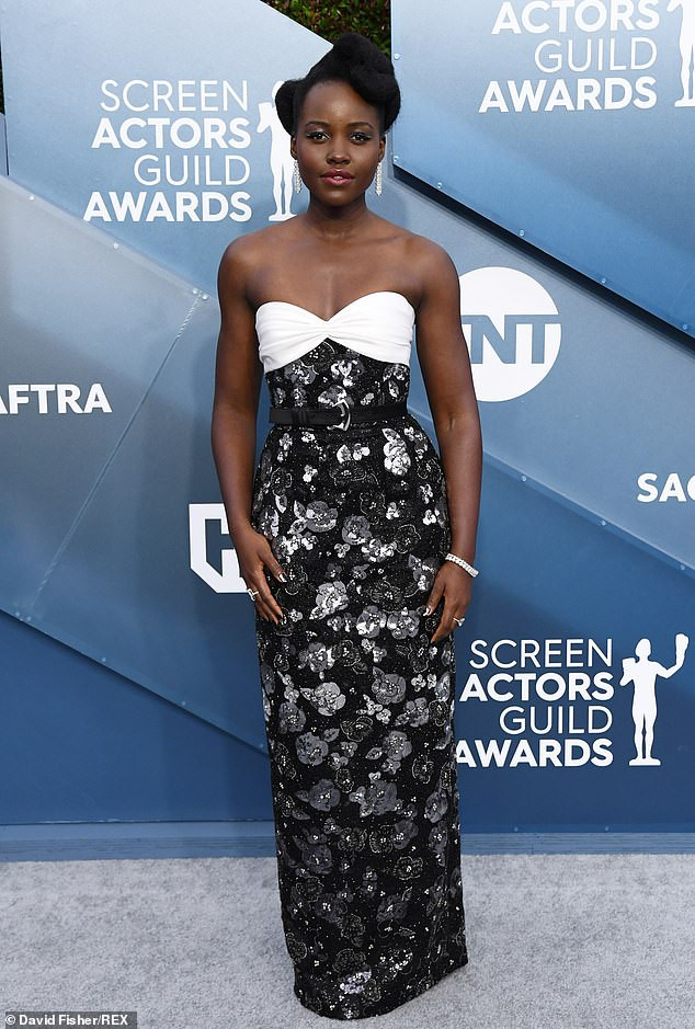 Lupita Nyong'o rock diamonds worth over $3.5 million to the 2020 SAG Awards (Photos)