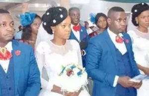 Twin sisters wed