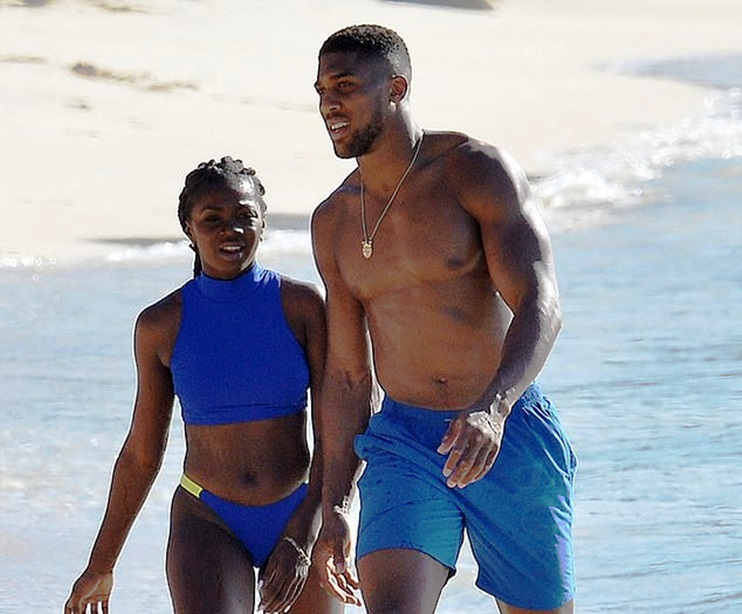 Shirtless Anthony Joshua Enjoys