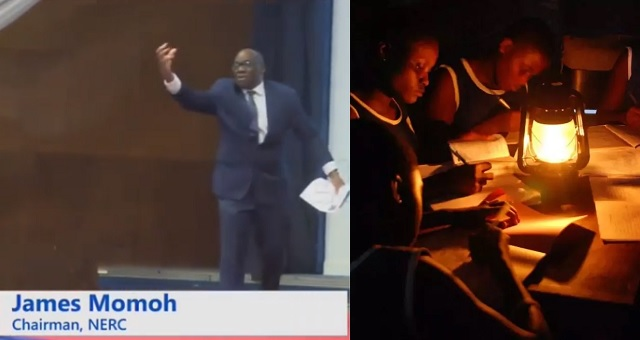 """Nigerians mock Electricity Regulatory Commission boss, James Momoh after he went on stage to say """"I have a dream that Nigeria will have 24 hours power"""" (video)"""