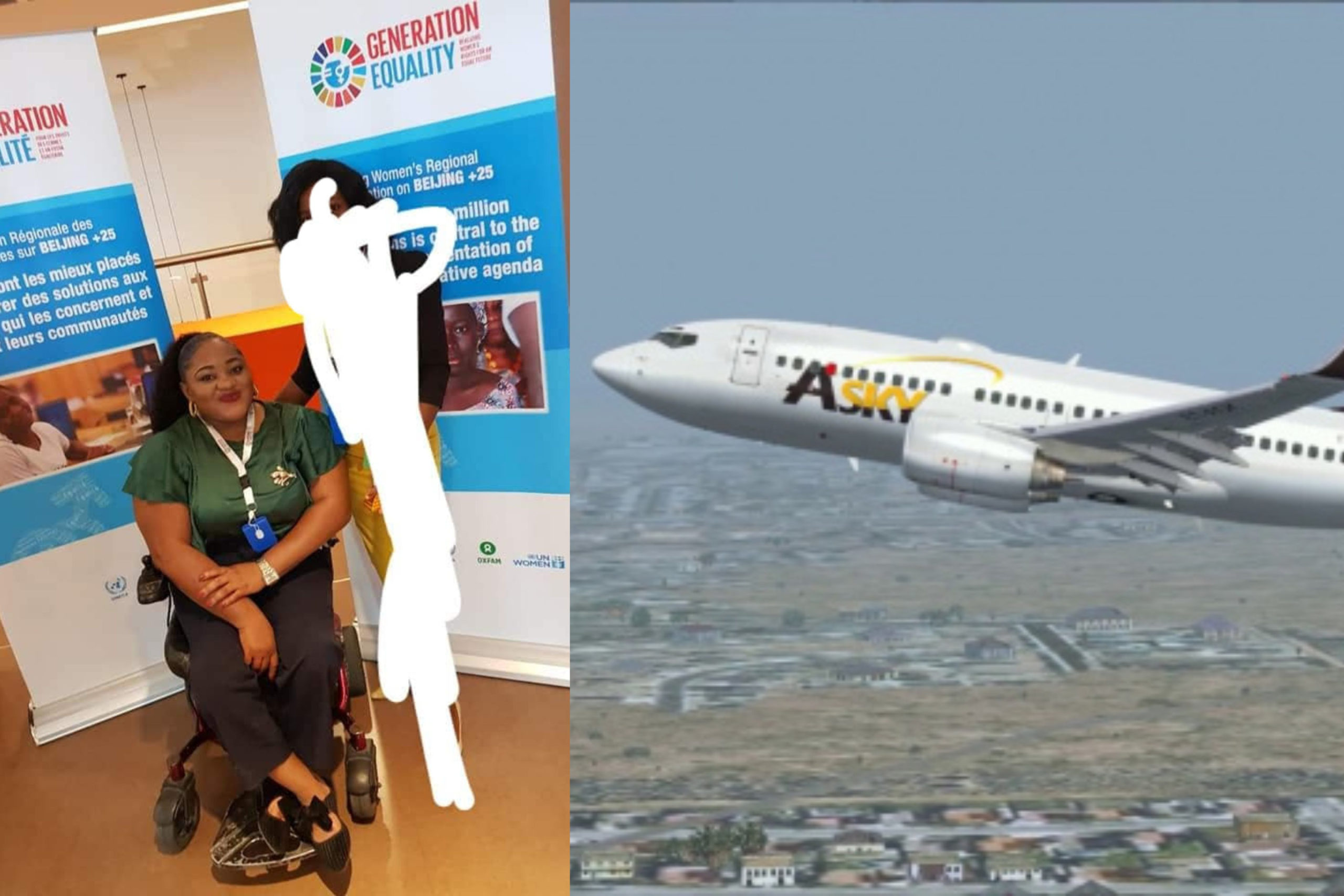 Nigerian lady sues airline