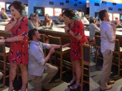 Couple fake engagement