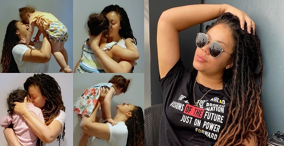 Nadia Buari shares beautiful photos with her four children to celebrate Valentine's Day - YabaLeftOnline