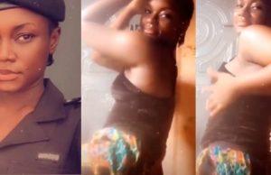 Beautiful Nigerian policewoman twerks