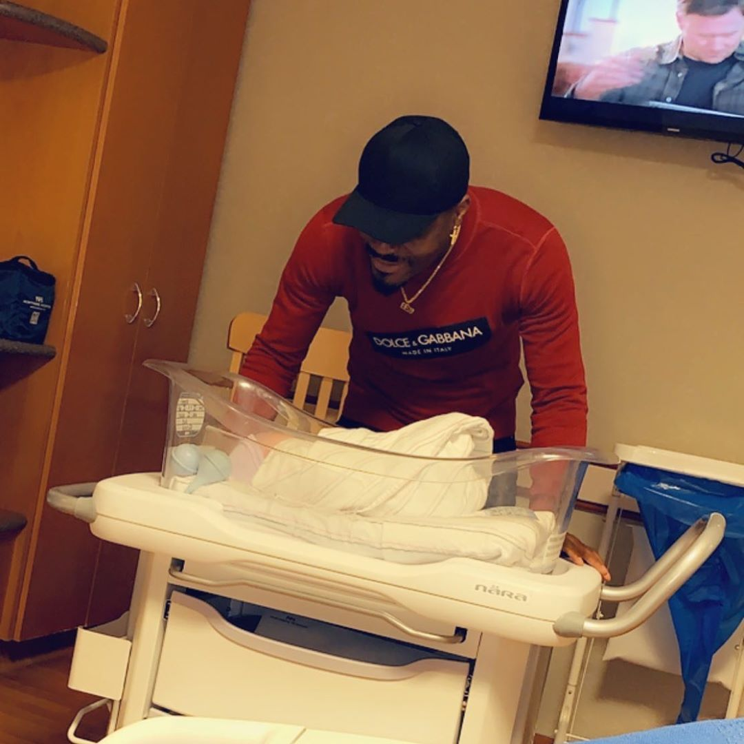 Nigerian Footballer, Emenike and wife welcome their second child