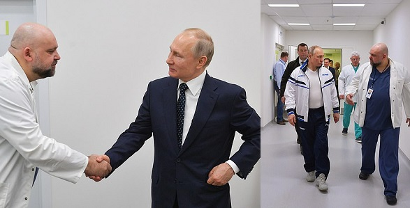 Scare rises for President Putin as Russian physician he shook hands with a week ago tests positive for Coronavirus (Photos) - YabaLeftOnline