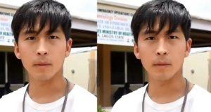 Discharged Asian coronavirus survivor