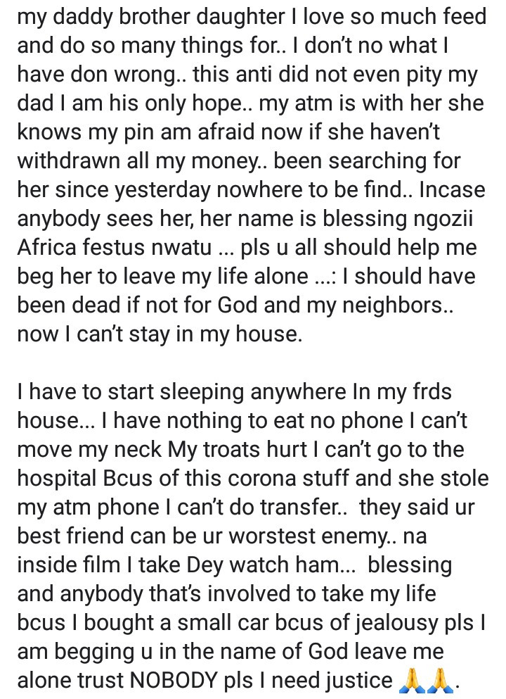 Woman accuses cousin