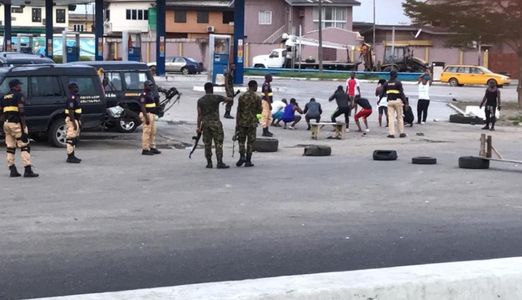 Lagos residents punished