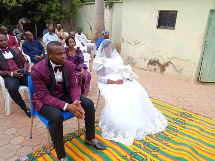 Couple gets married in their compound in Kaduna State