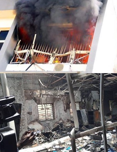 Fire guts INEC Headquarters