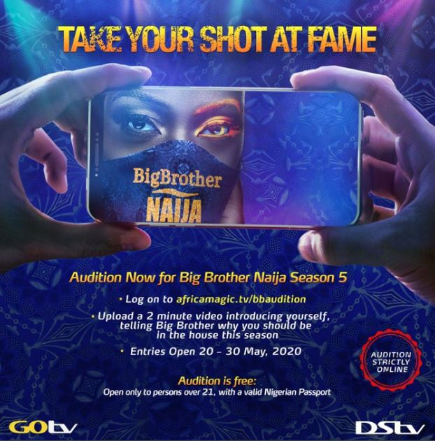 bbnaija 2020 audition