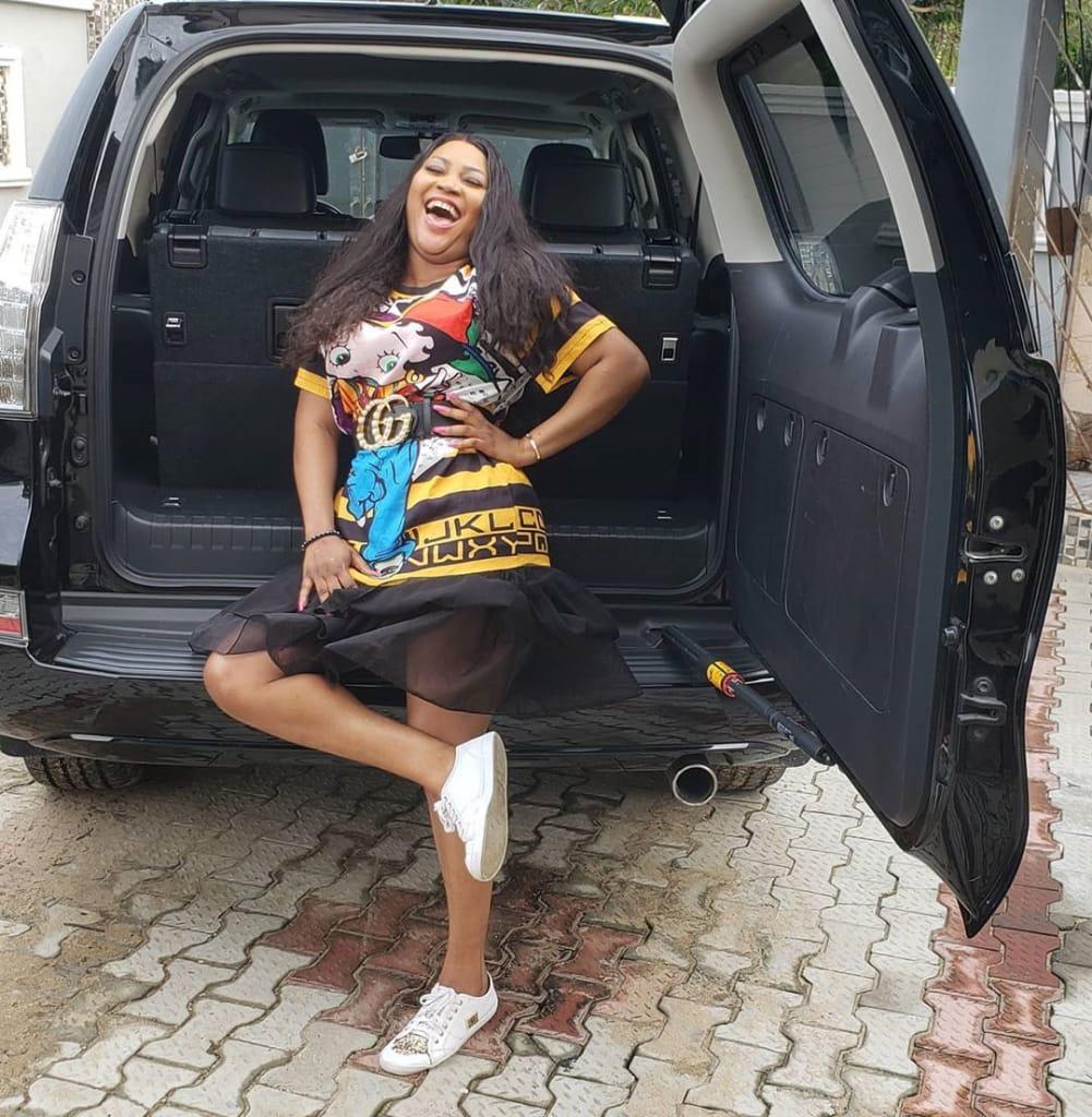 Actress Uche Elendu buys new Lexus SUV (Photos)