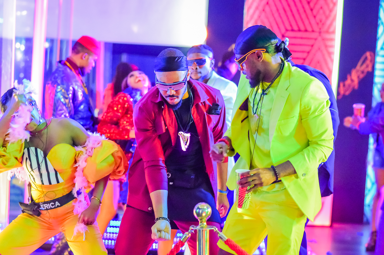 #BBNaija: Colorful photos from the second lockdown night party.