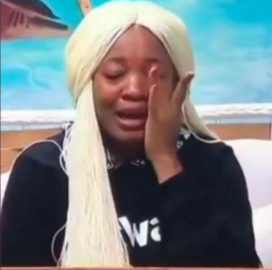 Lucy breaks down in tears