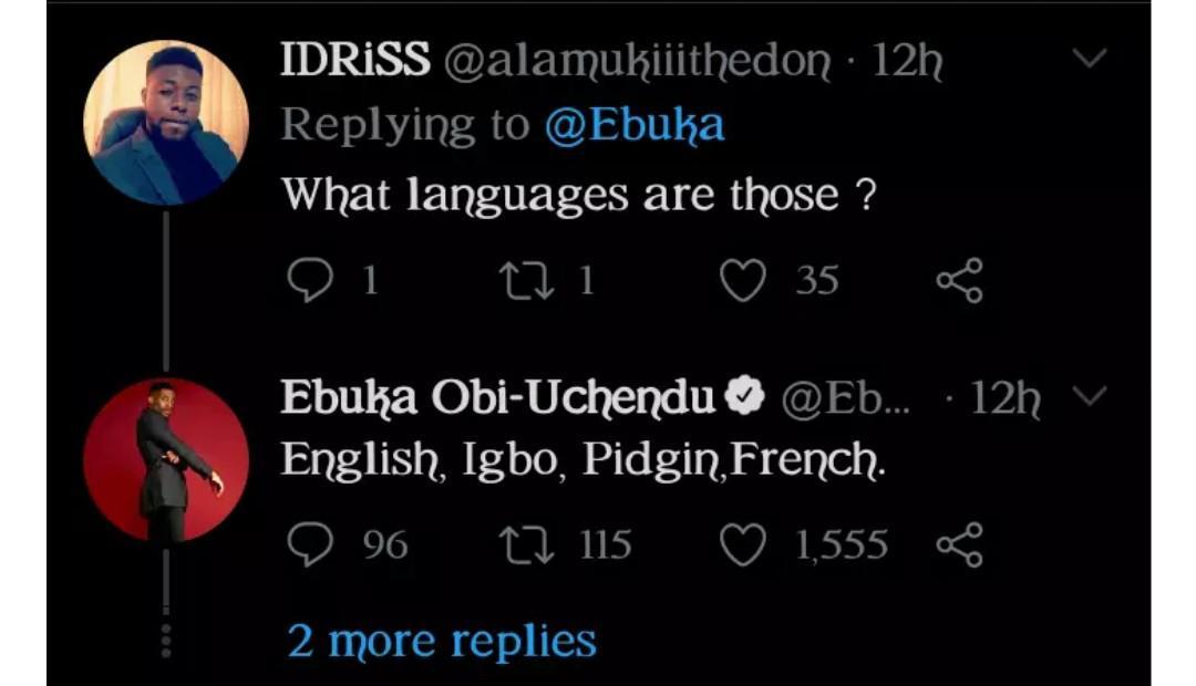 Ebuka brags
