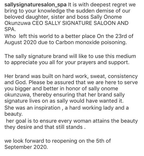 Sally Okunzuwa,