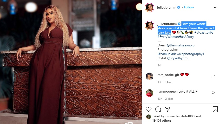 119085692 242630170413006 301374344320777841 n 2 Love Your Whole Story Even if It Hasn't Been The Perfect Fairy Tale – Juliet Ibrahim Preaches About Self Love