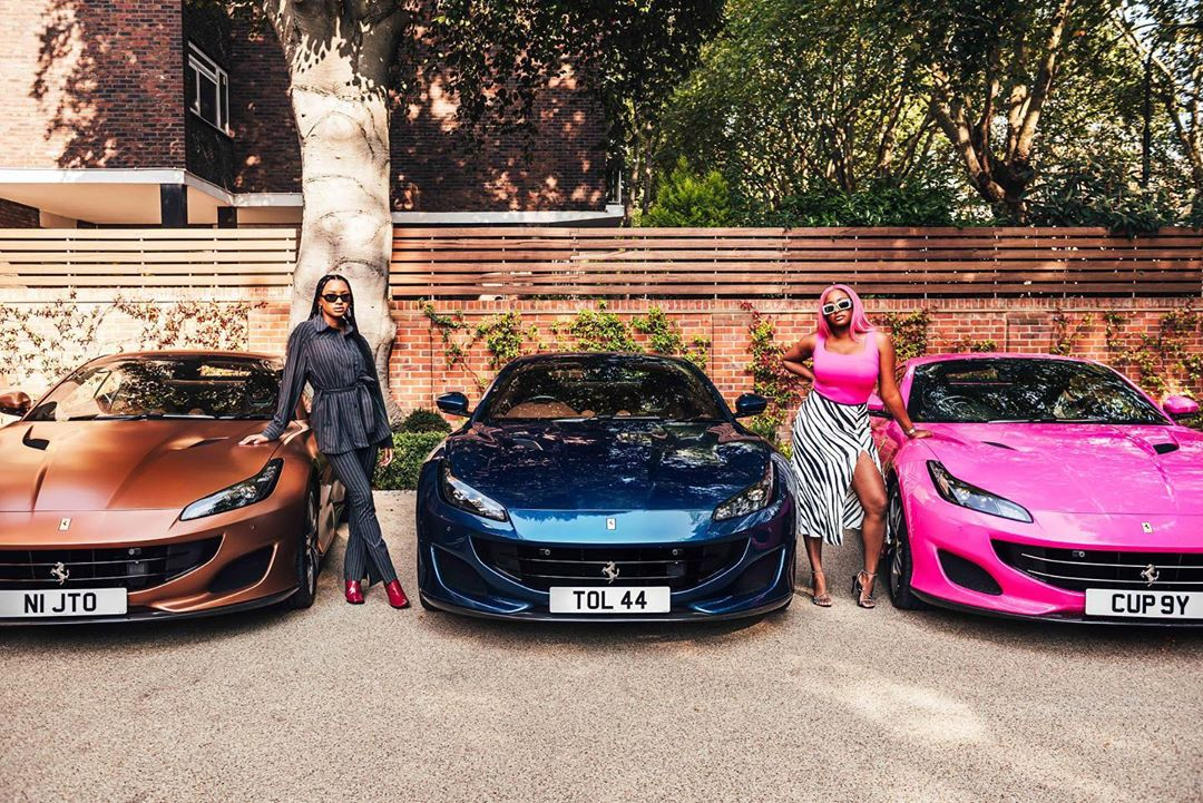 LEVELS! Billionaire Femi Otedola buys 3 Ferraris for his 3 daughters (Photos)