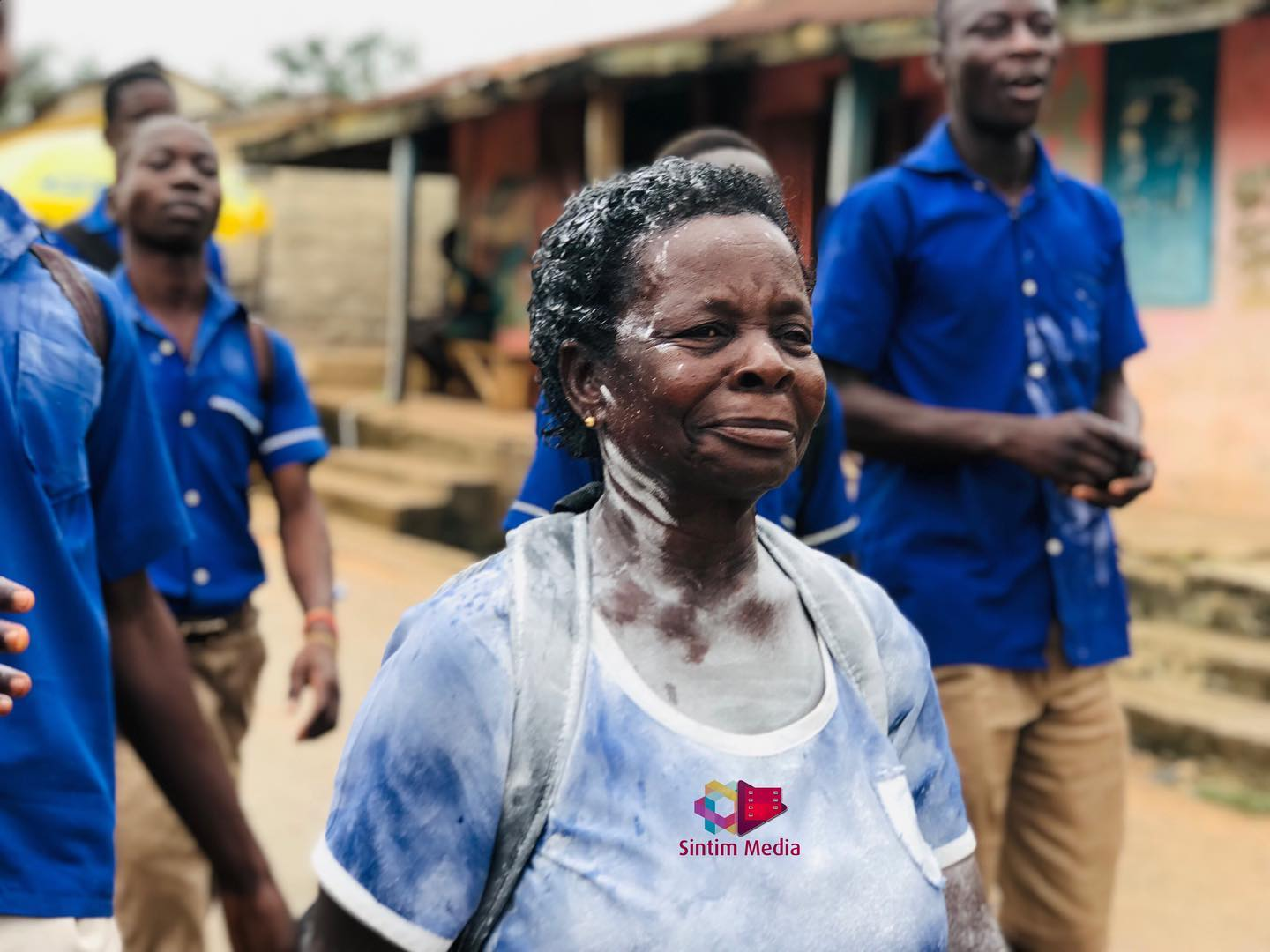 119522451 3592326820800579 1843147287744992995 o A 57-year-old woman jubilates as she completes her junior secondary education