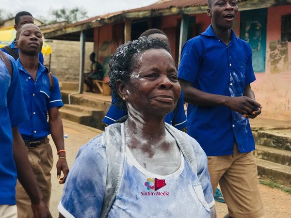 57-year-old woman jubilates