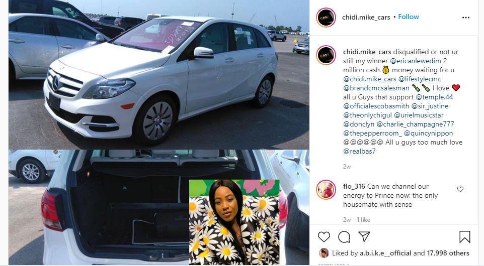 Bobrisky slams car dealer