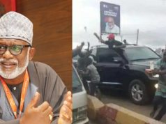 gov akeredolu throwing