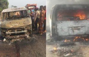 eight people burnt