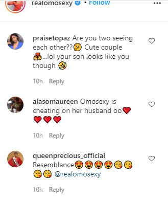 """omotola ekehinde """"Cute couple"""" – Fans reacts as an actress, Omotola Jalade-Ekeinde shares lovely photos of herself and her son"""
