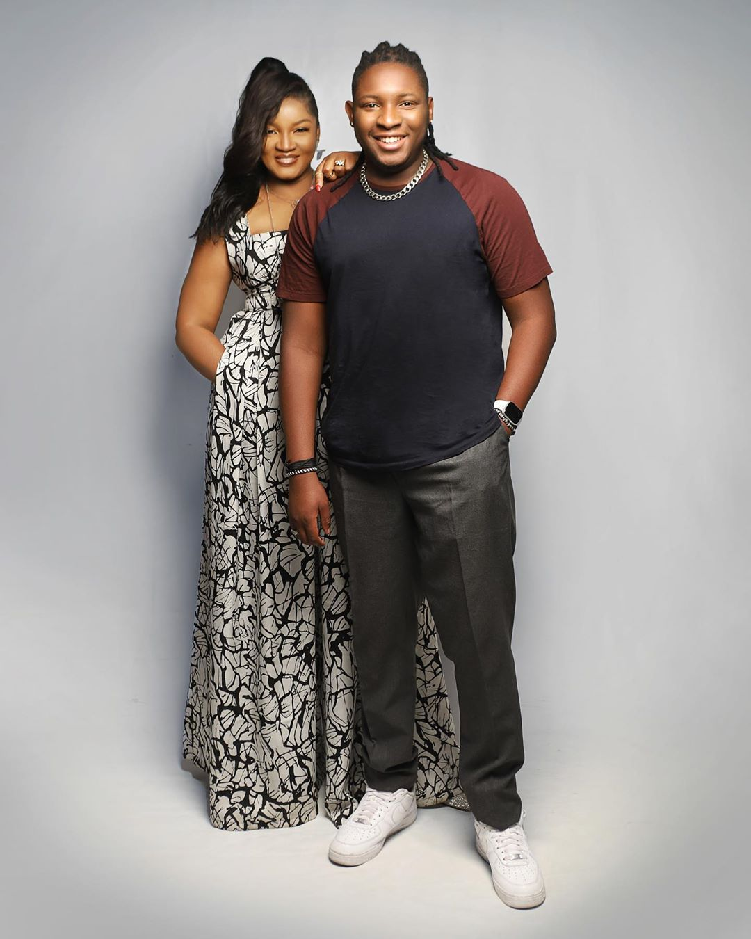 """omotola n son """"Cute couple"""" – Fans reacts as an actress, Omotola Jalade-Ekeinde shares lovely photos of herself and her son"""