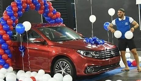 Ozo wins brand new car