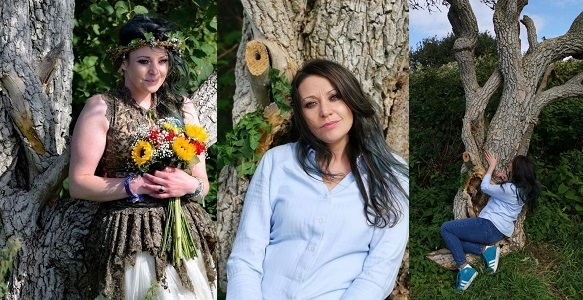 Mother Of 2 Who Married A Tree Celebrates First Wedding Anniversary In England. - YabaLeftOnline